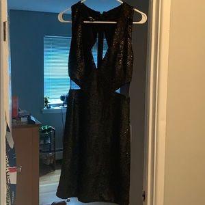 Midnight black sequin dress
